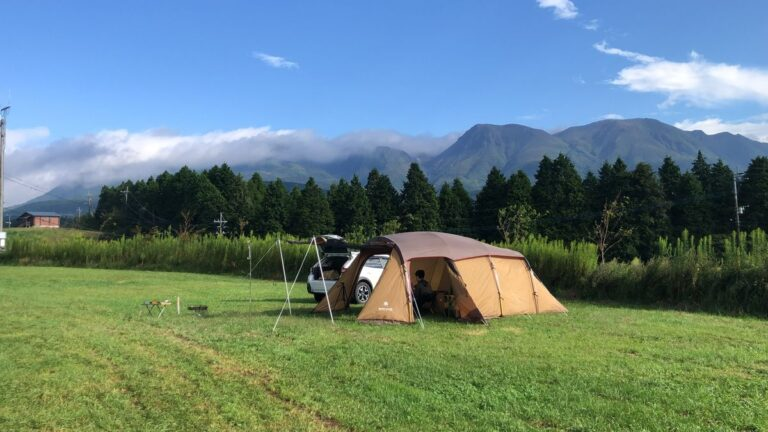 温泉を2度楽しめる&愛犬同伴OKのキャンプ場『久住高原オートビレッジ』で秋キャンプ
